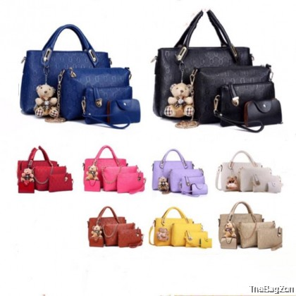 5 IN 1 HANDBAG SET WITH BEAR A1-067