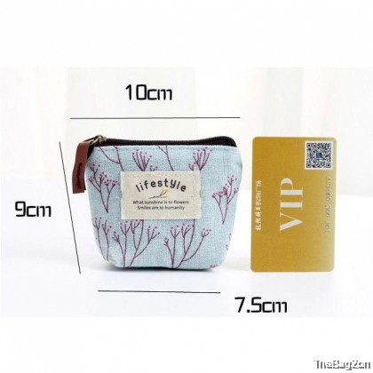 MINI FLORAL COIN POUCH 503