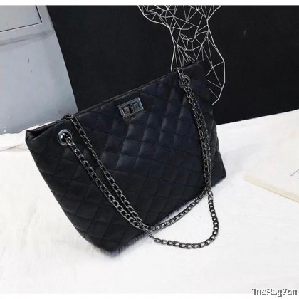 ENGAGE CHAIN WITH ZIP SHOULDER BAG N6-545