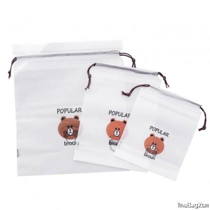 3 in 1 Bear Waterproof Toiletries & Cosmetic Bags W3-7009