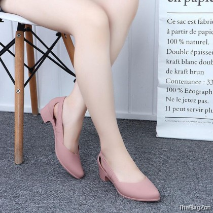 Woman's Shallow Mouth Jelly High Heels Shoes SA-6-6013