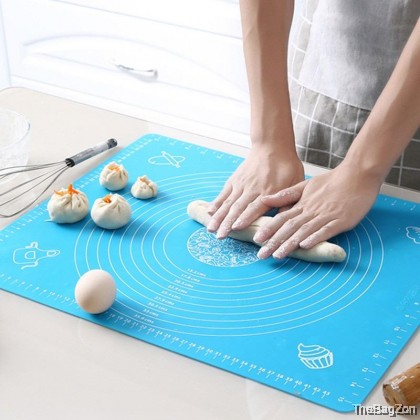 (4 Sizes) Non-Stick Silicone Baking Mat Pad Sheet Baking Pastry tools Rolling Dough Mat W1-8009