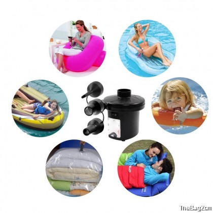 Electric Air AC Pump Inflator Deflator Inflatable Air Bed Swimming Pool Stermay Pam Angin Pelanpung E7-7028