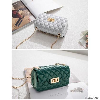 Mini Cute Fragrance Jelly Shoulder Messenger Diamond Chain Sling Bag E3-651