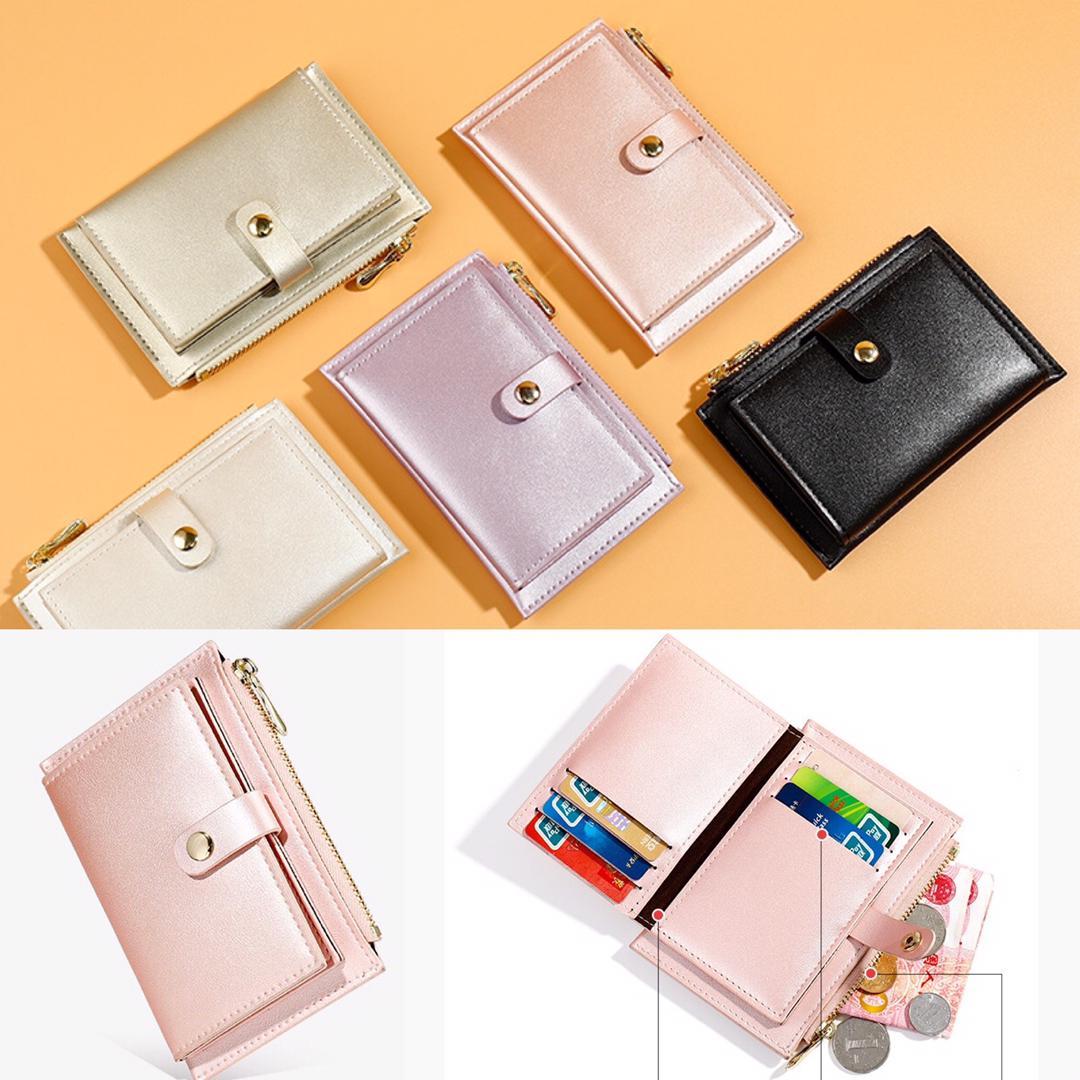 Hennie Purse & Pouches Card Holder Women Soft Leather Money Bag Small Card Wallets Card Case Zipper Coin Bags W5-712