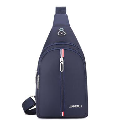 Man Casual Cool USB Chest Pouch Bag N1-465
