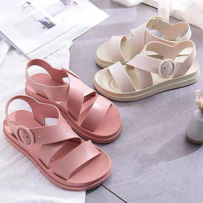 Jade Jelly Womens Sandals Flat Shoes SA7-6018